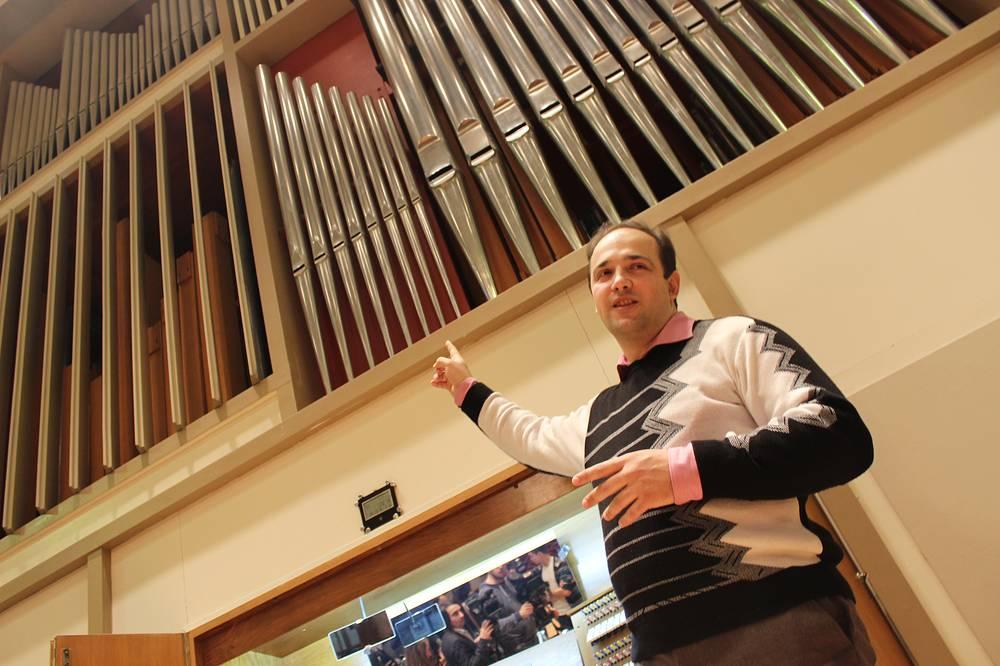 Экскурсия по органу. Проводит органист Тарас Багинец