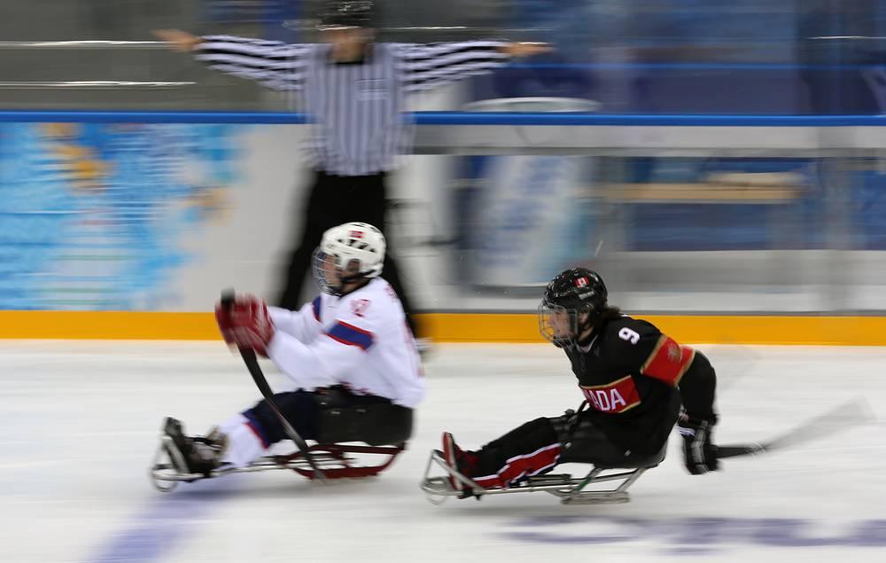 Сборная Канады обыграла сборную Норвегии в матче по следж-хоккею