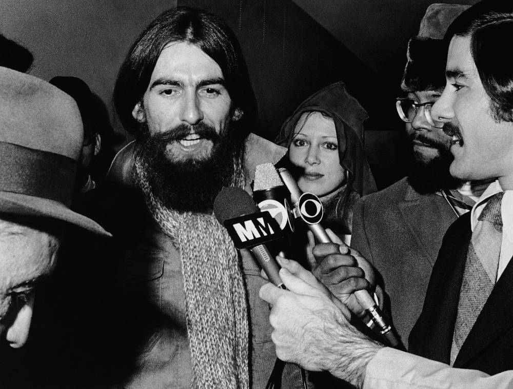 Джордж Харрисон с бородой в 1970 году