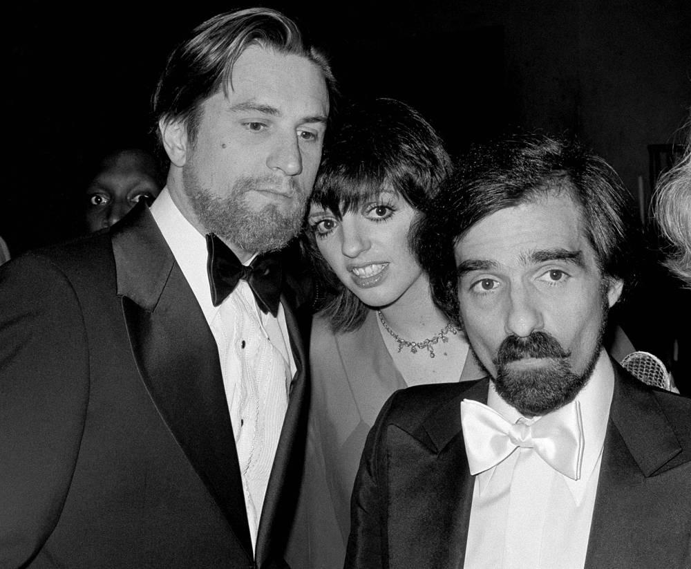 Роберт де Ниро, Лайза Минелли и Мартин Скорсезе в 1977 году