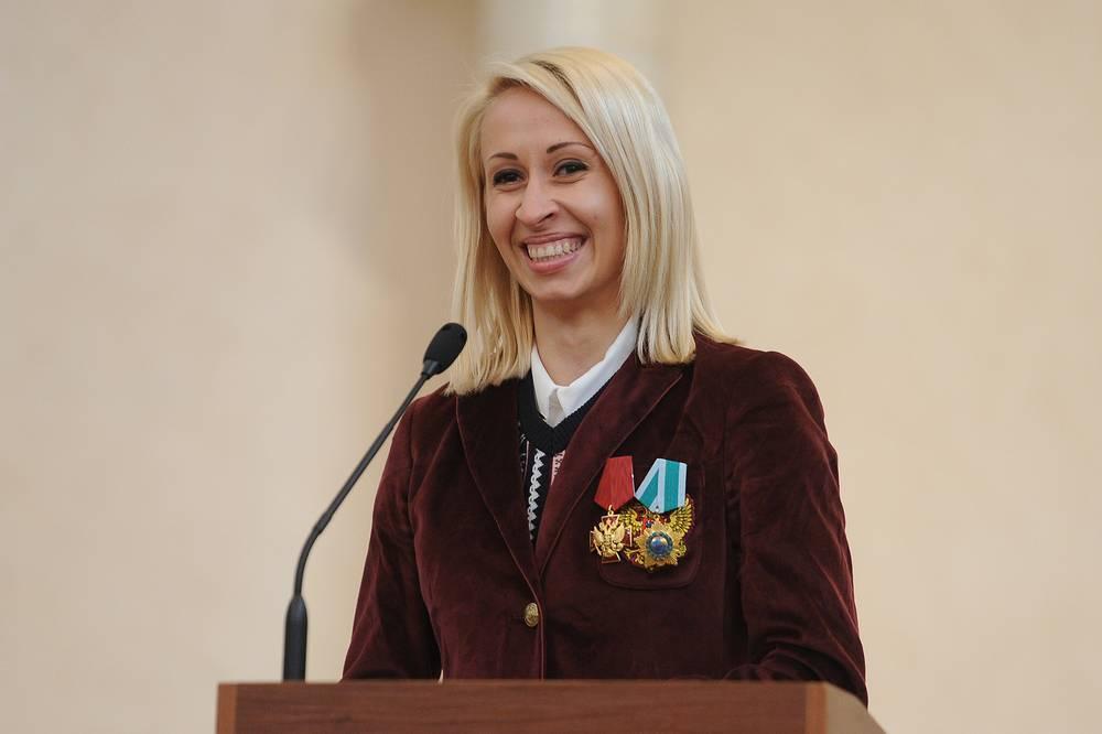 Паралимпийская чемпионка Михалина Лысова на приеме Олимпийских и Паралимпийских спортсменов у губернатора Свердловской области