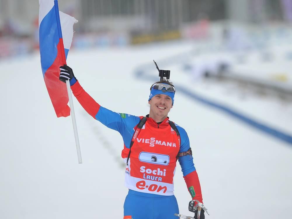 Евгений Устюгов во время этапа Кубка мира в Сочи