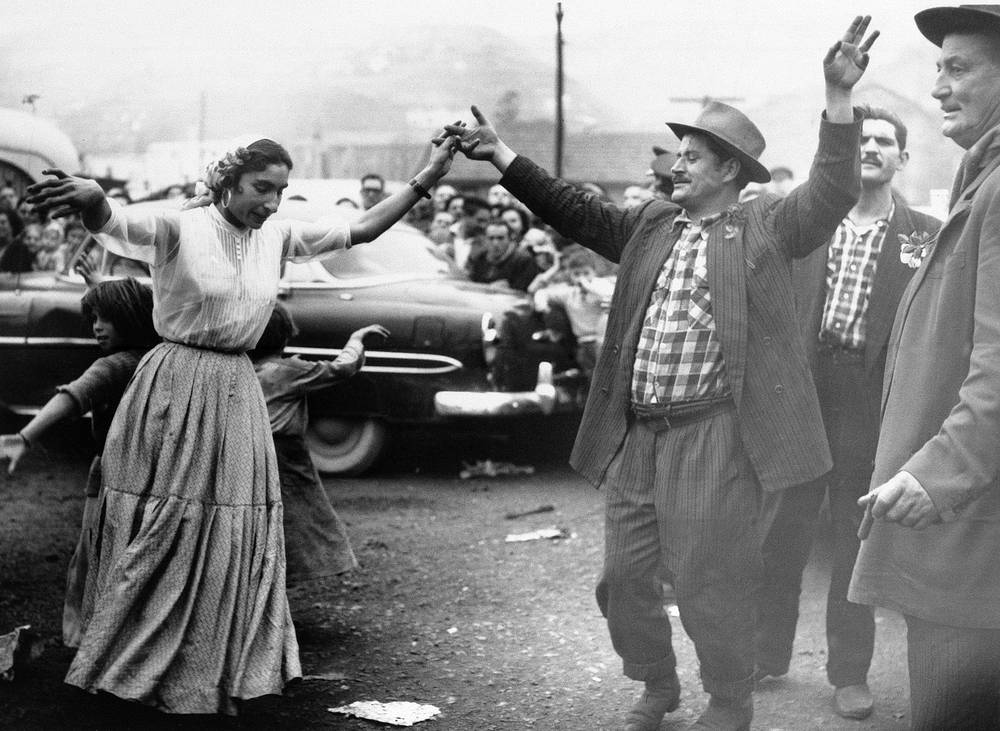 Праздник цыган в Бильбао, Испания, 1958 год