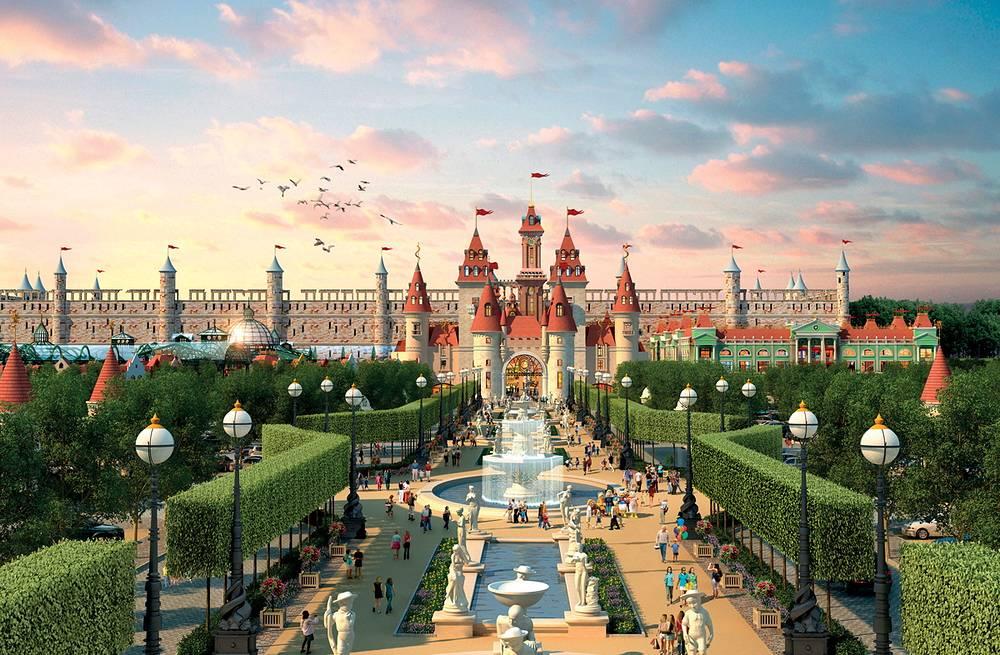 Специализированный детский развлекательный парк, подобный Диснейленду, появится на юге Москвы в Нагатинской пойме