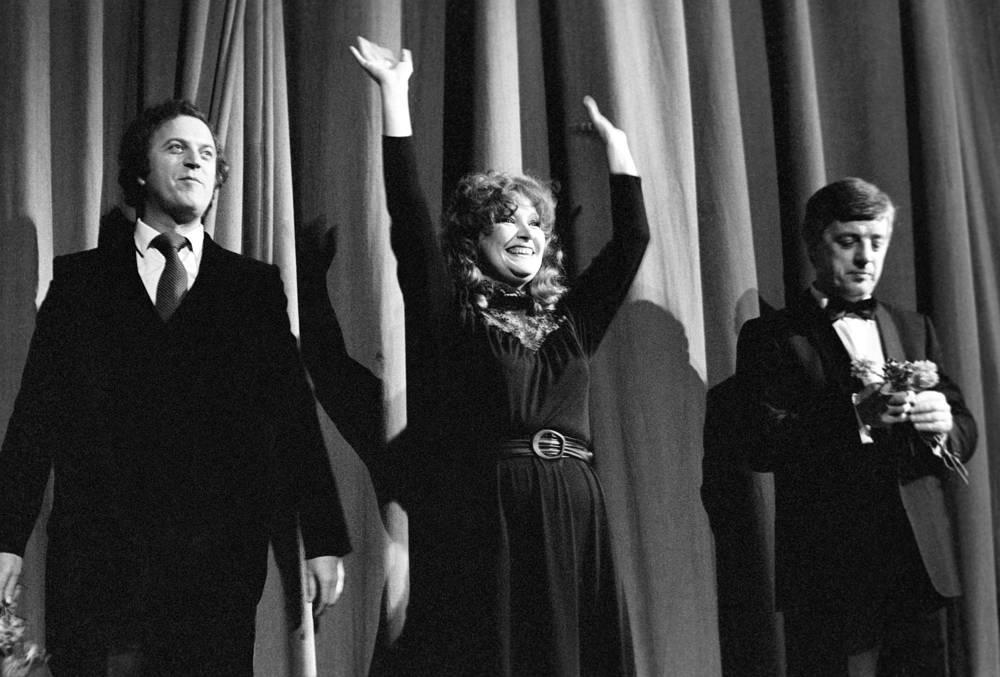 Илья Резник, Алла Пугачева и Раймонд Паулс, 1982 год