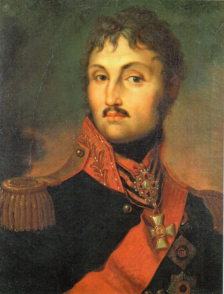 Неизвестный художник Портрет графа П.Х.Витгенштейна. Первая половина XIX века Варьированная копия с гравированных портретов.