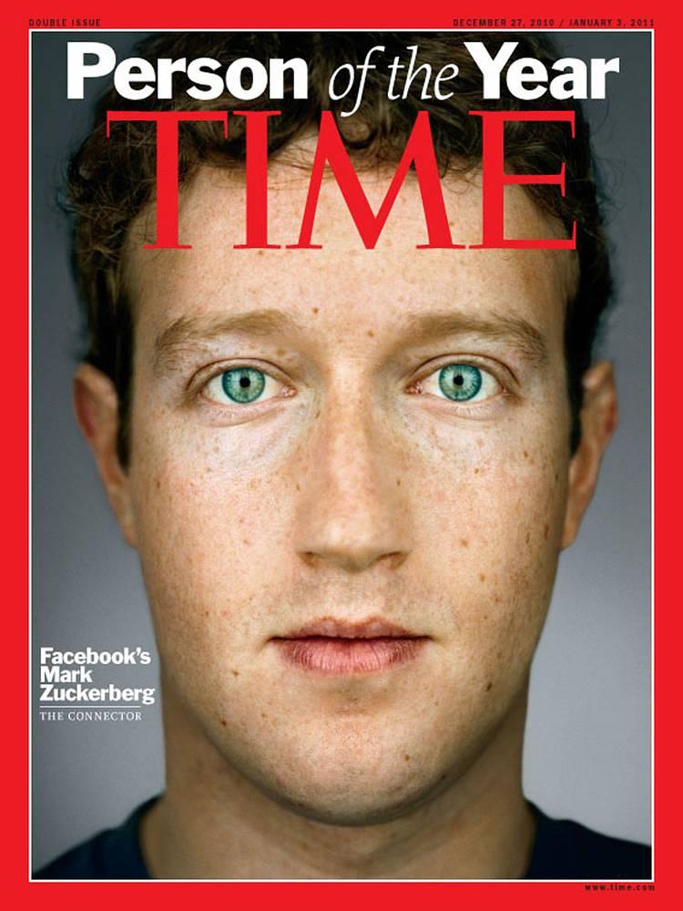 В 2010 году журнал Time объявил Цукерберга человеком года