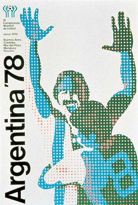 Плакат ЧМ-1978 в Аргентине. Южноамериканцы на домашнем турнире в финале обыграли команду Нидерландов - 3:1