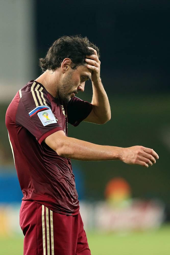 Расстроенный Юрий Жирков после первого тайма