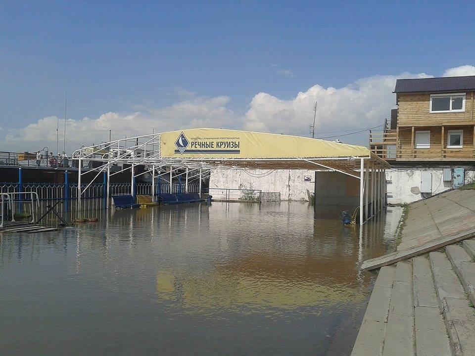 Река Обь в районе Речного вокзала в Новосибирске