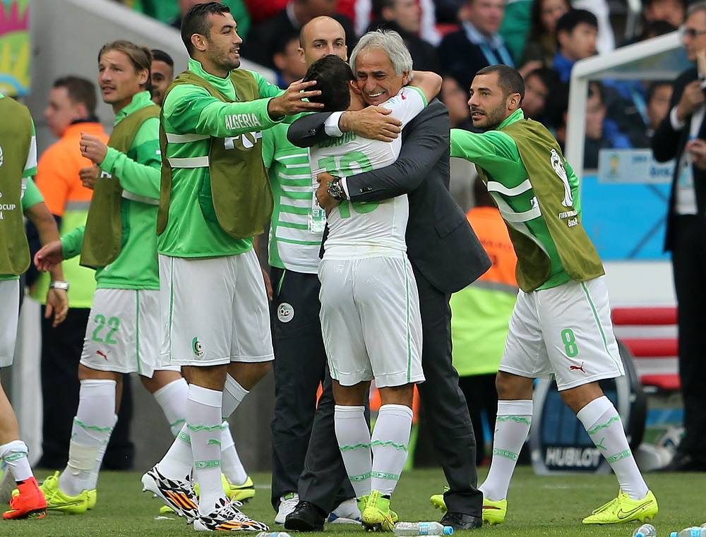 Радость алжирских игроков