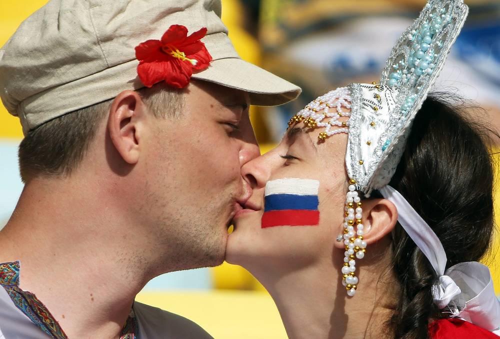 Российский поцелуй на бразильской земле