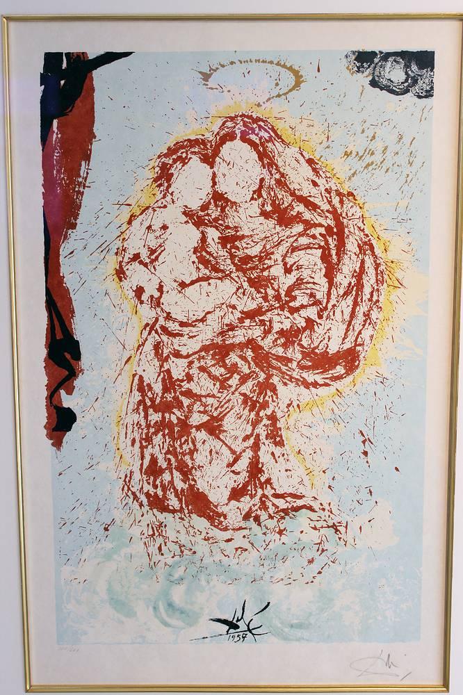 Сикстинская дева. Сальвадор Дали. Литография. 1957 год