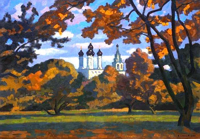 "Виктор Иванов. ""Осенний сад"". 2005 год, холст, масло"
