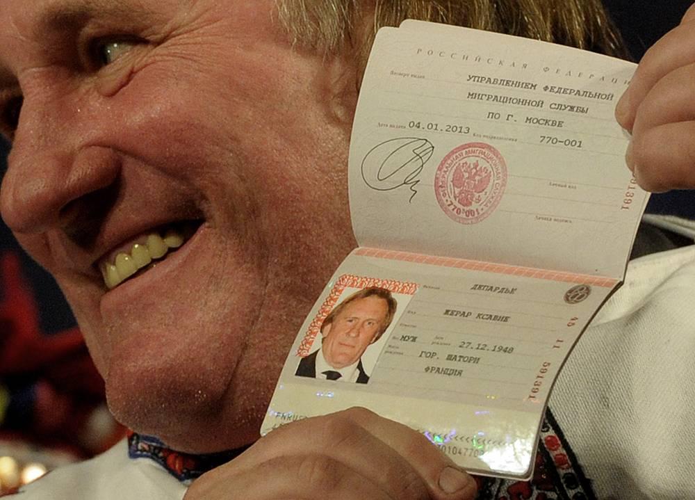 В январе 2013 года французский актер Жерар Депардье получил российский паспорт