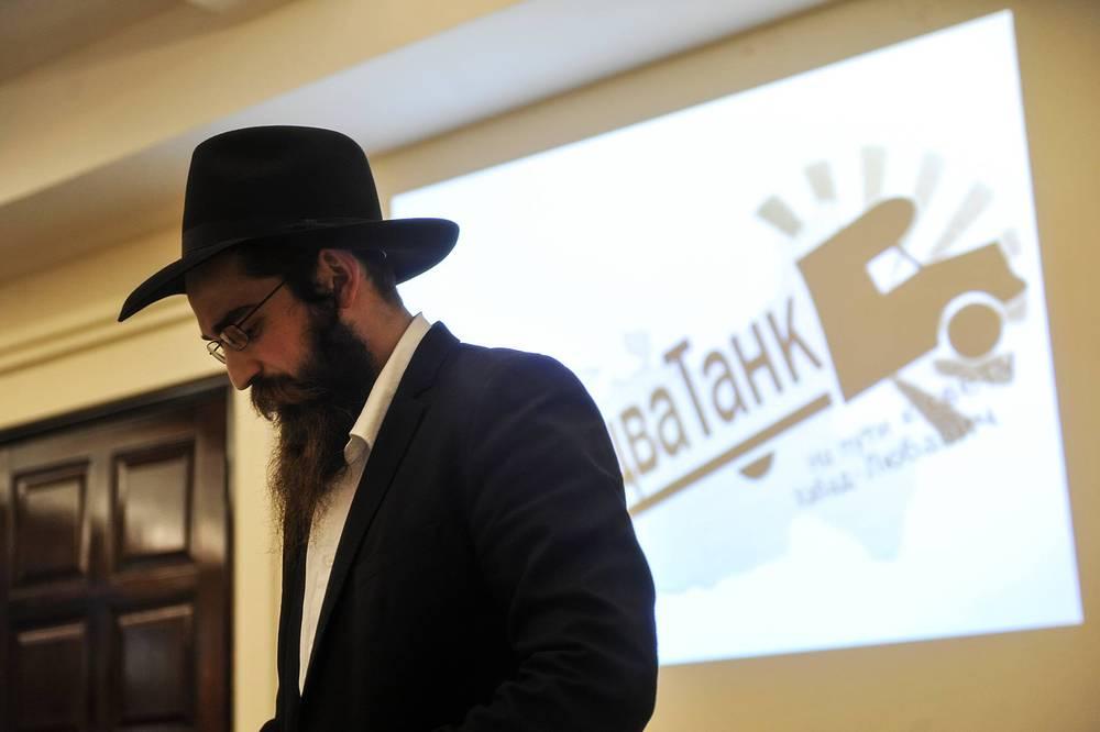 """Кроме работы на улицах Новосибирска, раввины нанесли визит в Новосибирский еврейский культурный центр """"Бейт Менахем"""" и провели открытый урок, посвящённый традициям иудаизма"""