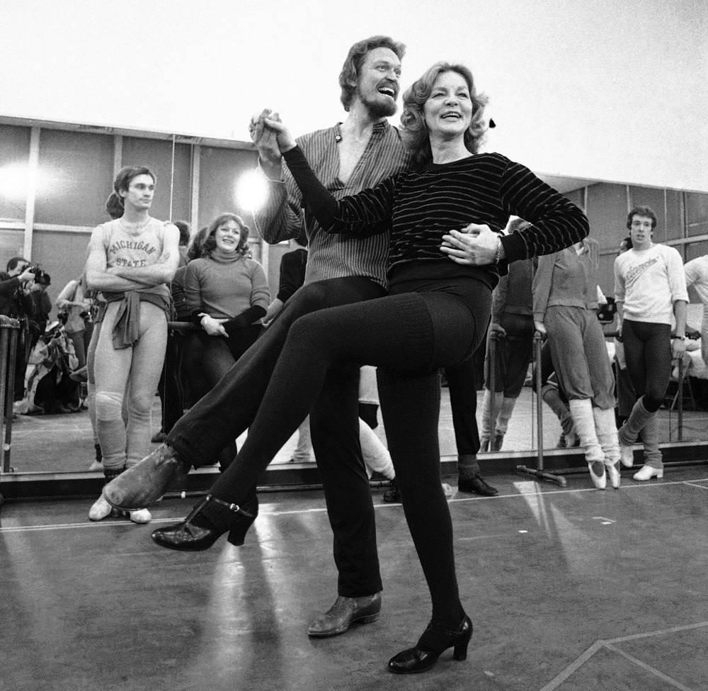 """На репетиции мюзикла """"Женщина года"""" в Нью-Йорке, 1981 год"""