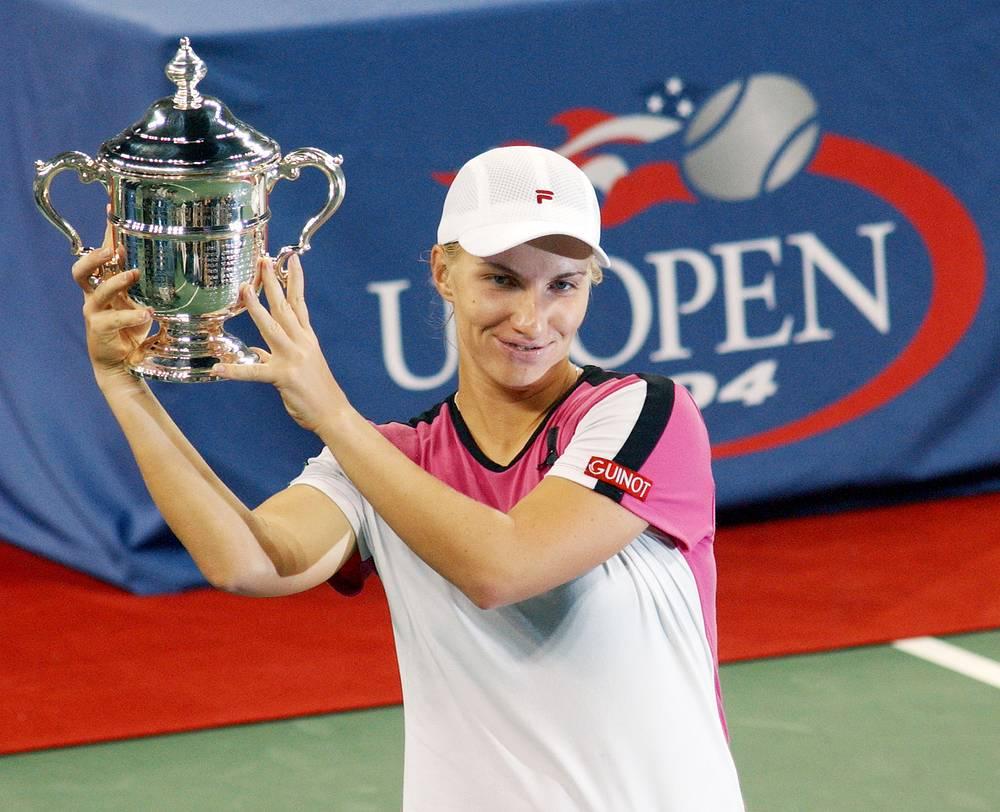 Первой россиянкой, которой покорился US Open, была Светлана Кузнецова. Она выиграла турнир в женском одиночном разряде в 2004 году