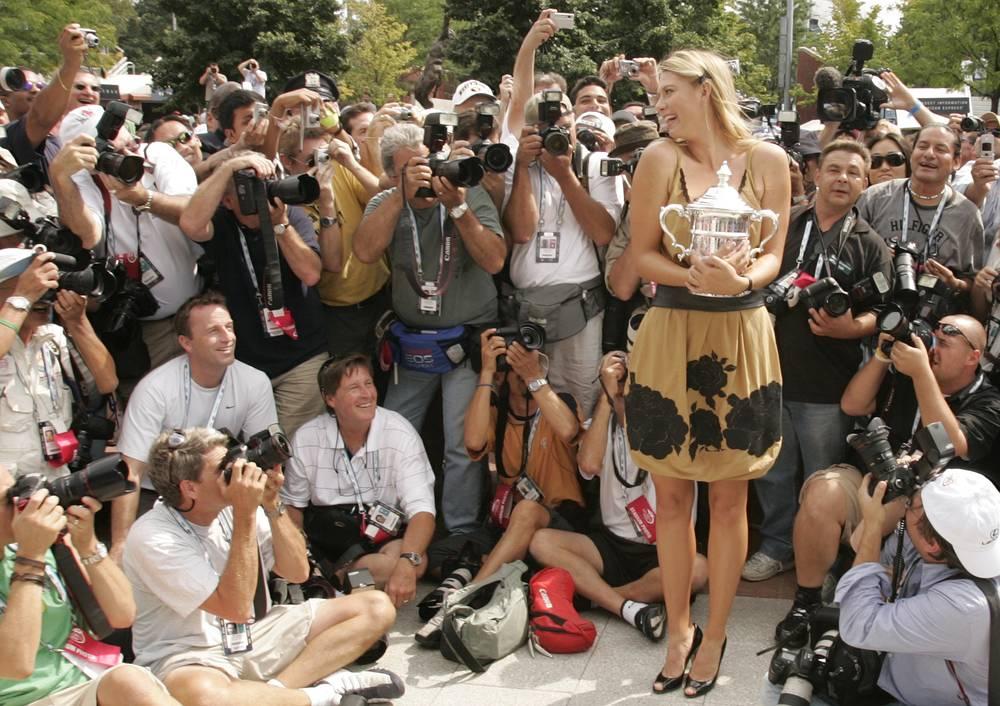 """В 2006 году титул победительницы US Open выиграла Мария Шарапова. Это была вторая победа россиянки на турнирах """"Большого шлема"""" после победы на Wimbledon-2004"""
