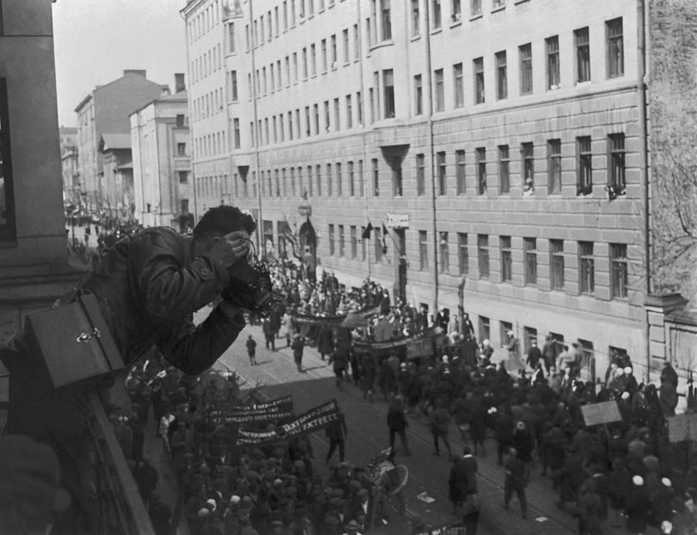 Первомайская демонстрация в Москве, 1932 год