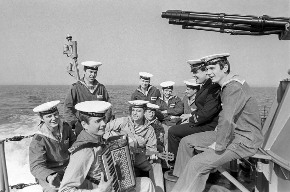 На пограничном сторожевом корабле, 1981 год