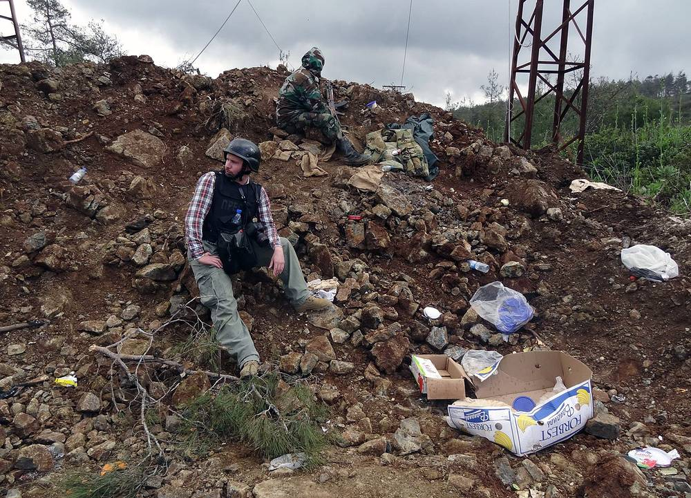 Андрей Стенин в Латакии, Сирия