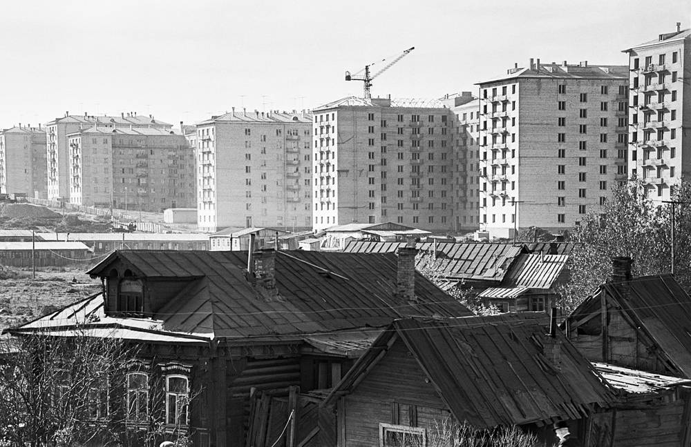 Новый район на месте деревни Семеновской, 1958 год