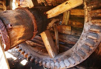 Современный вид механизма мельницы