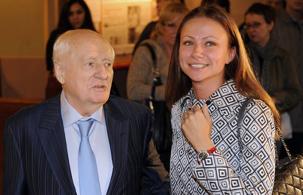 Марк Захаров и актриса Мария Миронова, 2012 год