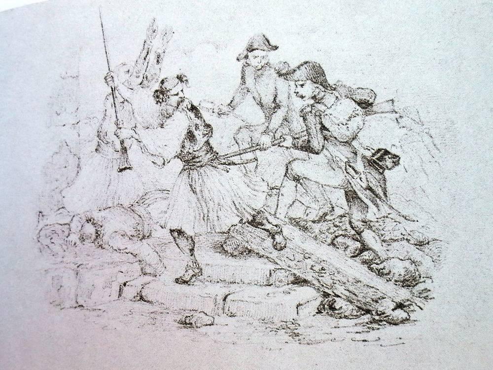 Рисунок Лермонтова из альбома Нарышкиных