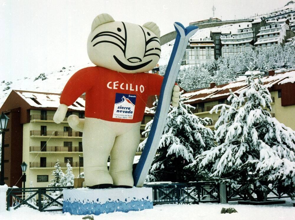"""""""Сесилио"""" - эмблема чемпионата по горнолыжному спорту в Испании, 1996 год"""