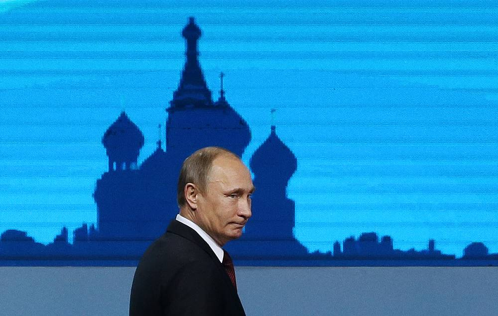 Владимир Путин на заседании в рамках делового саммита форума АТЭС