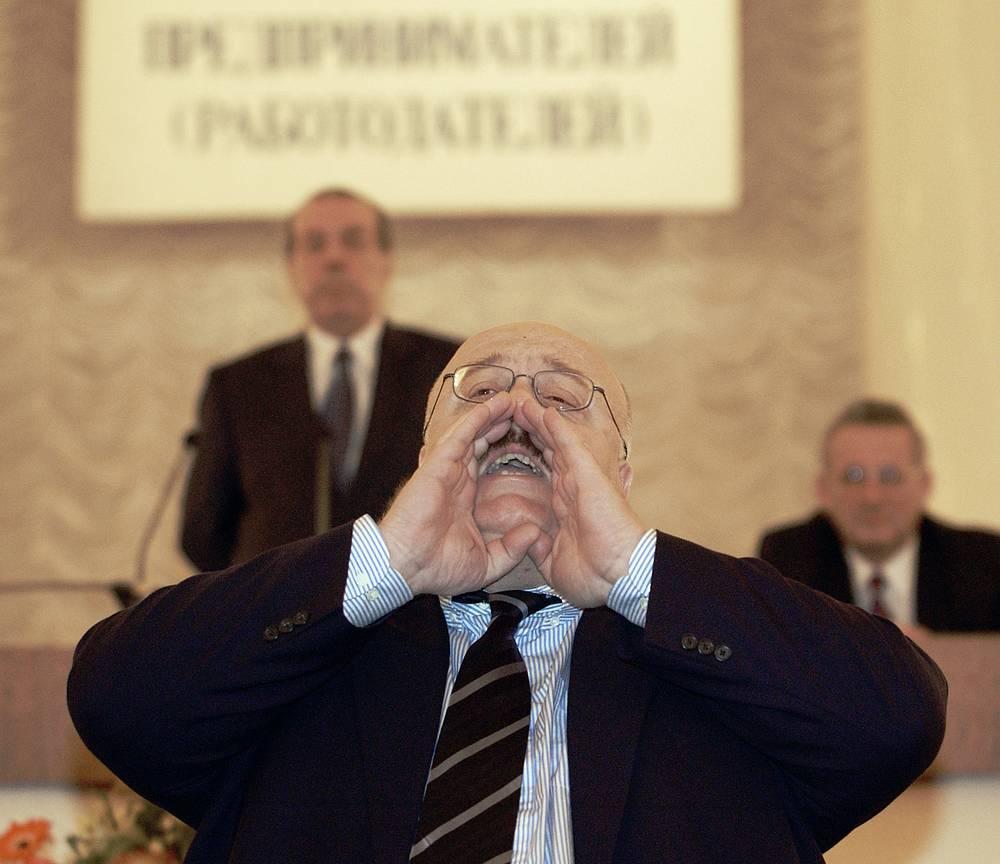 Член правления РСПП Каха Бендукидзе (на снимке) на XIII съезде Российского союза промышленников и предпринимателей, 14 ноября 2003 года