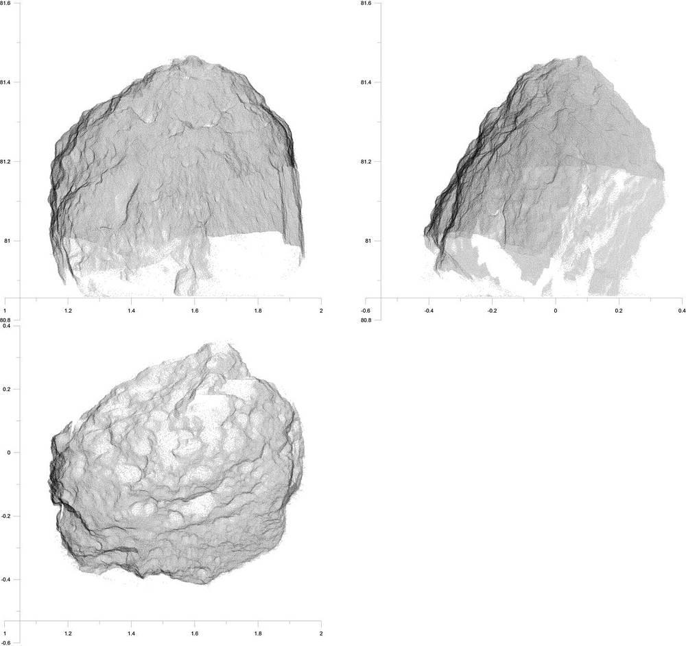 Результат лазерного сканирования метеорита