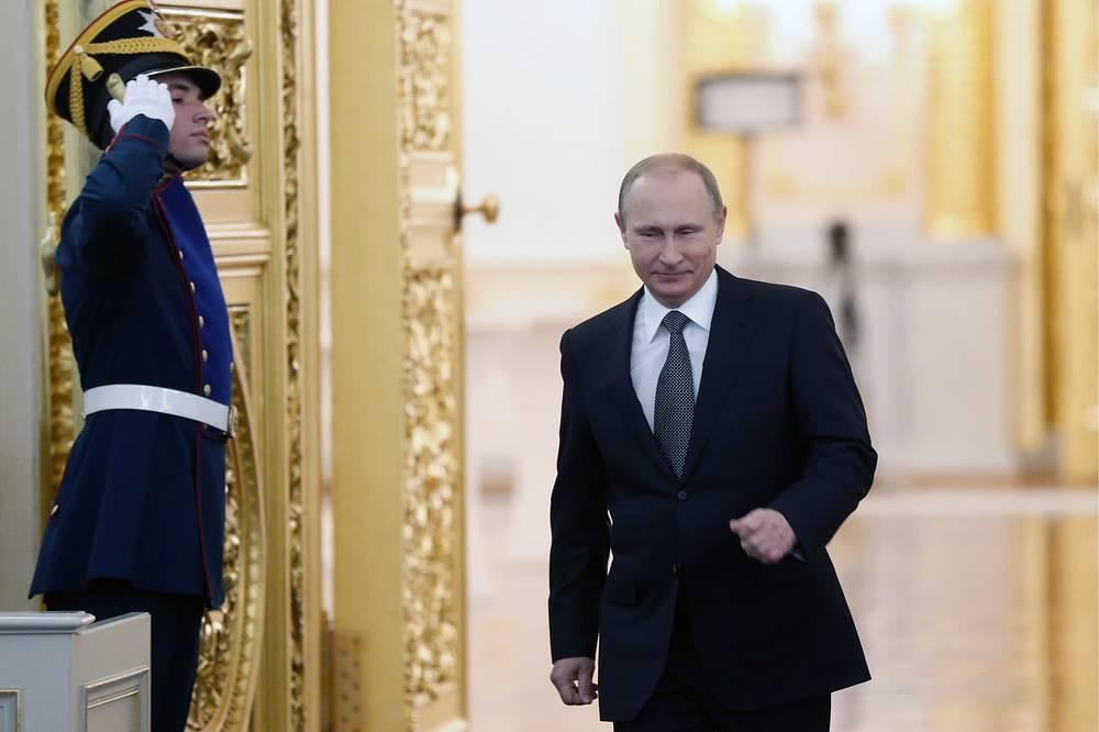 Выступление президента РФ Владимира Путина продолжалось 1 час 10 минут