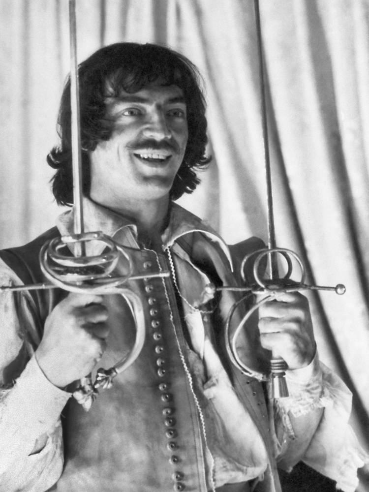 "Во время съемок  фильма ""Три мушкетера"", 1978 год"