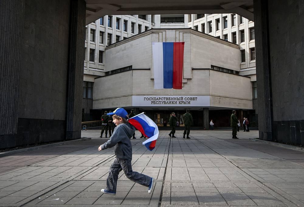 Республика Крым образована 18 марта 2014 года. Здание Государственного совета Республики Крым