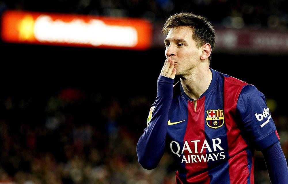 """Нападающий испанской """"Барселоны"""" и сборной Аргентины Лионель Месси"""