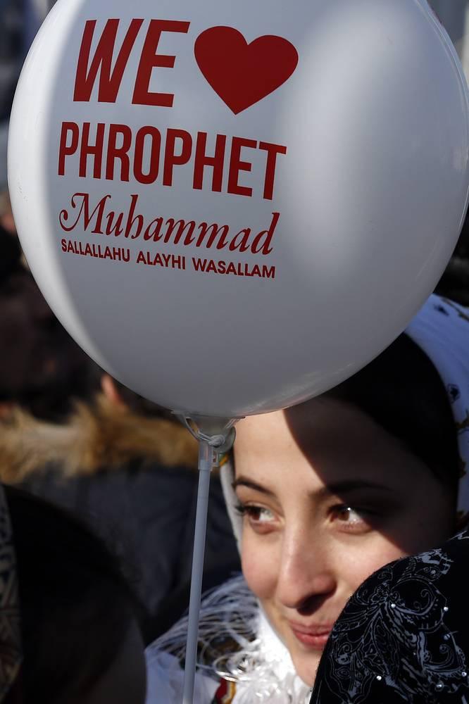 """Участница акции """"Любовь к пророку Мухаммеду"""""""