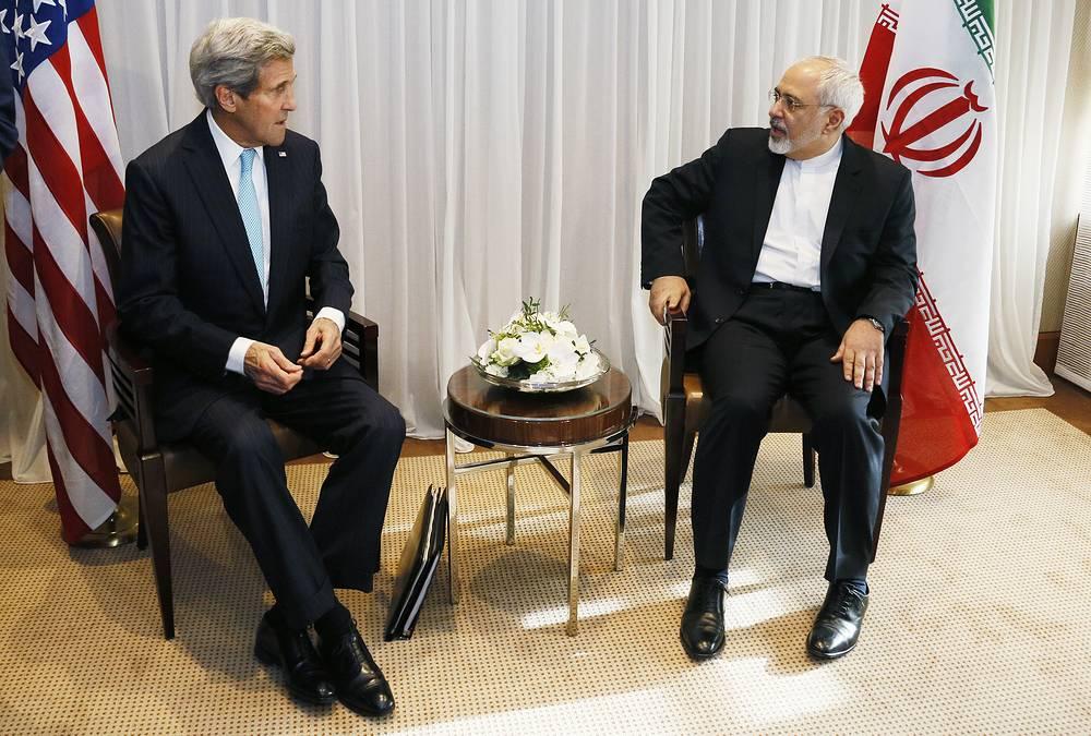 Переговоры в Женеве министра иностранных дел Ирана Мохаммада Джавада Зарифа и государственного секретаря США Джона Керри продолжались 7 часов.  Тема дискуссии - урегулирование ситуации вокруг ядерной программы Ирана