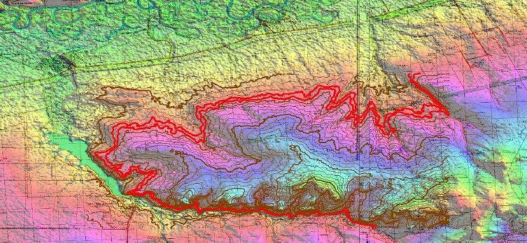 Места потенциальных выходов горизонта железистых оолитов
