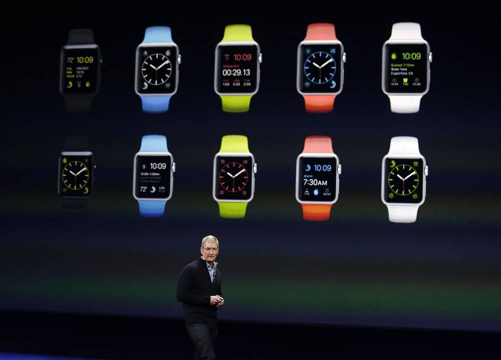 Стоимость Apple Watch составит от 349 до 10 тыс долларов в зависимости от размера экрана, материала корпуса и материала браслета