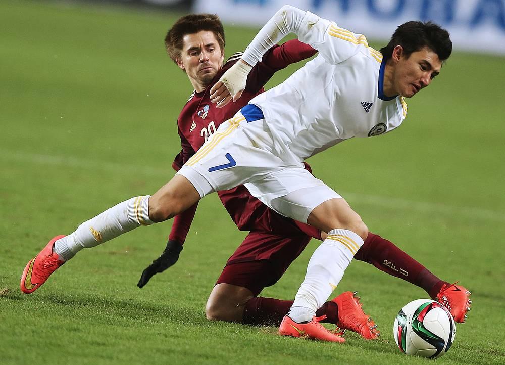 Полузащитник Дмитрий Торбинский, выступавший за национальную команду на успешном для нее Евро-2008, вышел на поле в основном составе впервые с 2011 года