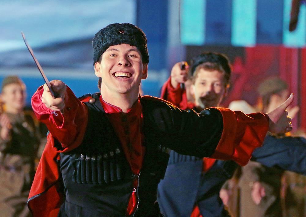 Участник праздничного концерта на Красной площади