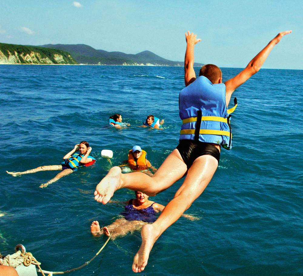 """Отдыхающие дети в лагере """"Орленок"""" на Черном море, 2005 год"""