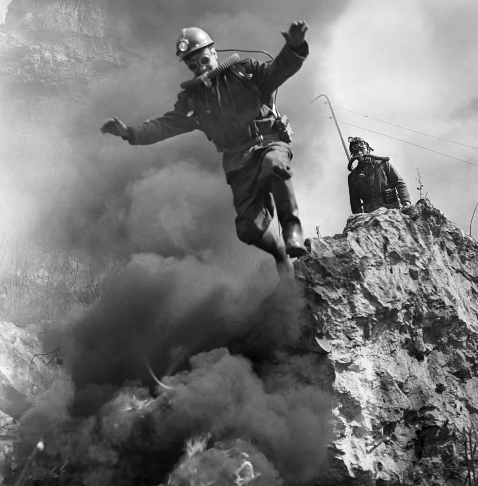 Тренировка спасателей, Грузинская ССР, 1977 год