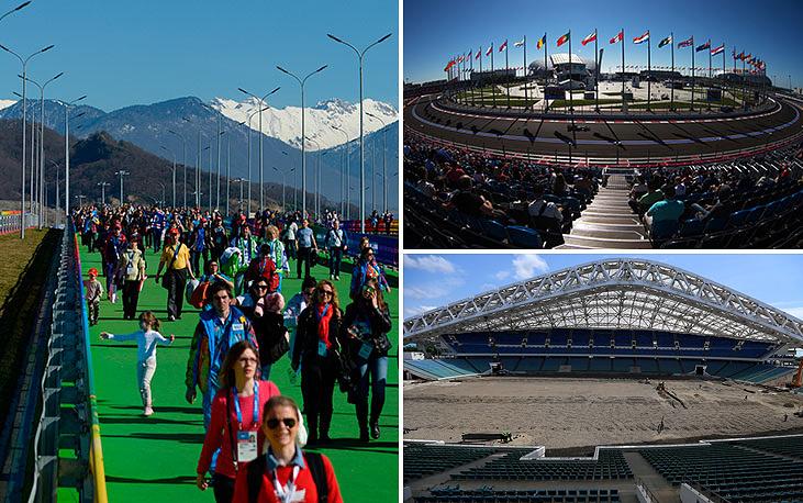 """В Сочи матчи чемпионата мира пройдут на стадионе """"Фишт"""", построенном к Олимпиаде 2014 года. Вместимость стадиона  - 40 тыс. мест"""