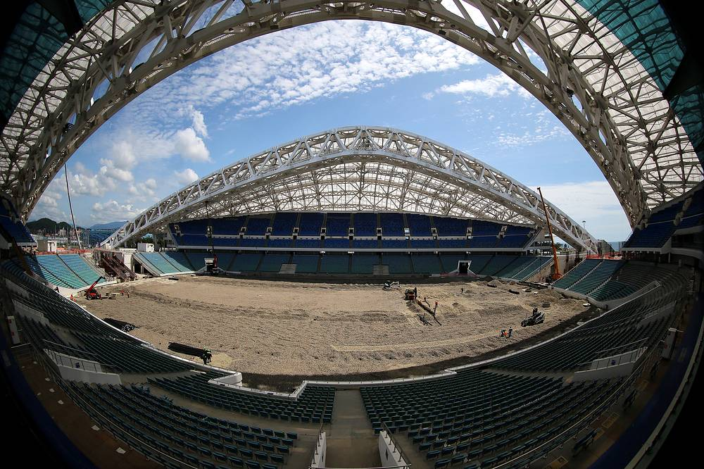 """Сочи. """"Фишт"""" (вместимость - 47 тыс. зрителей). Предполагается, что реконструкция стадиона будет завершена к июню 2016 года"""