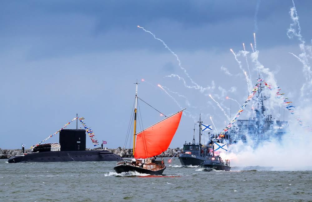 Парад кораблей в Балтийске