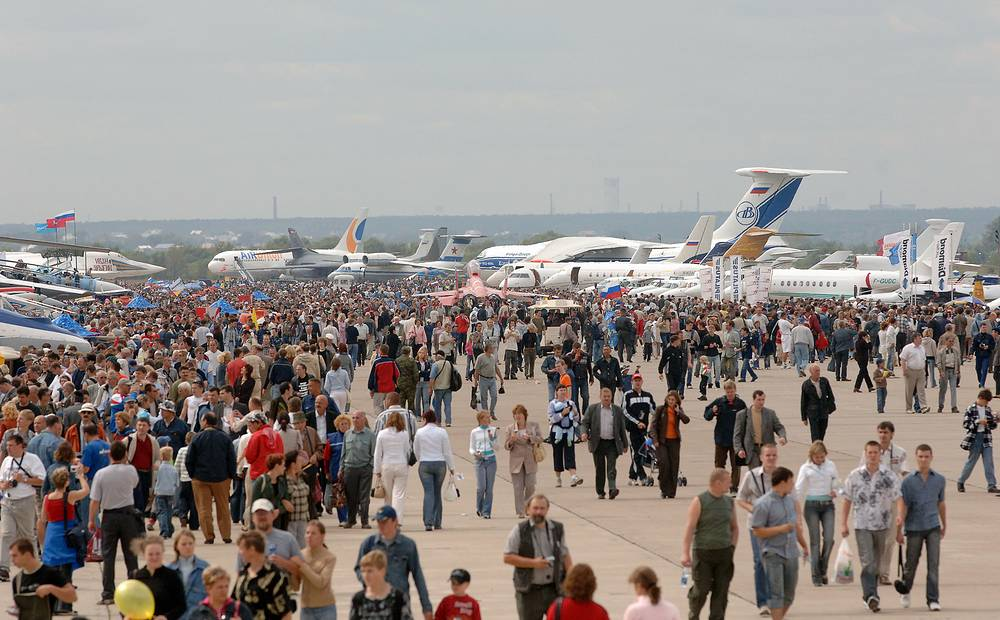 МАКС-2005: посетители VII Международного авиасалона